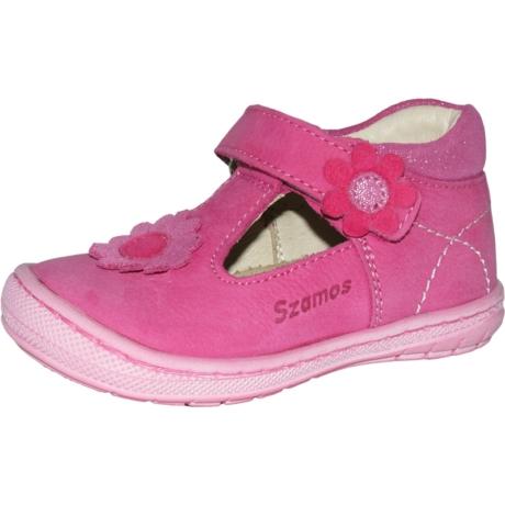 Szamos Kölyök Pink Pántos Formatalpas Nyitott Gyerekcipő 3267-406110-19