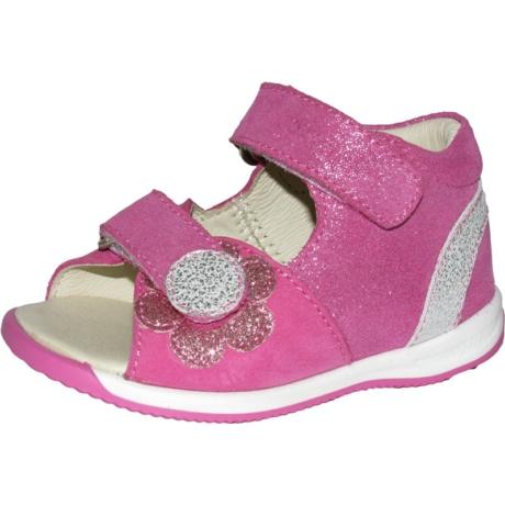 Szamos Kölyök Pink Tépőzáras Formatalpas Gyerek Szandál 4289-404510-19
